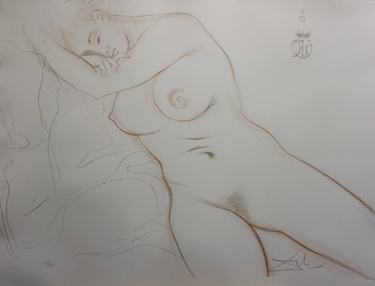 Nudes Sleeping Woman 1970 Limited Edition Print by Salvador Dali