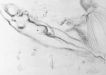 Nudes Suite:  Nu a La Guitarre (Serenade) 1970 Limited Edition Print - Salvador Dali