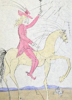 Cavalier a' la Rose 1973 Limited Edition Print - Salvador Dali