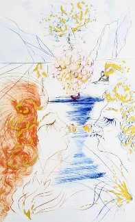 Song of Songs of Solomon Series: Let Him Kiss Me 1972 Limited Edition Print by Salvador Dali