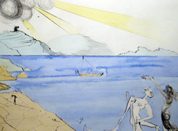 Laurels of Happiness 1974 Limited Edition Print by Salvador Dali