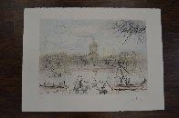 Place de l' Academi / Academie Des Beaux Arts 1975 Limited Edition Print by Salvador Dali - 2