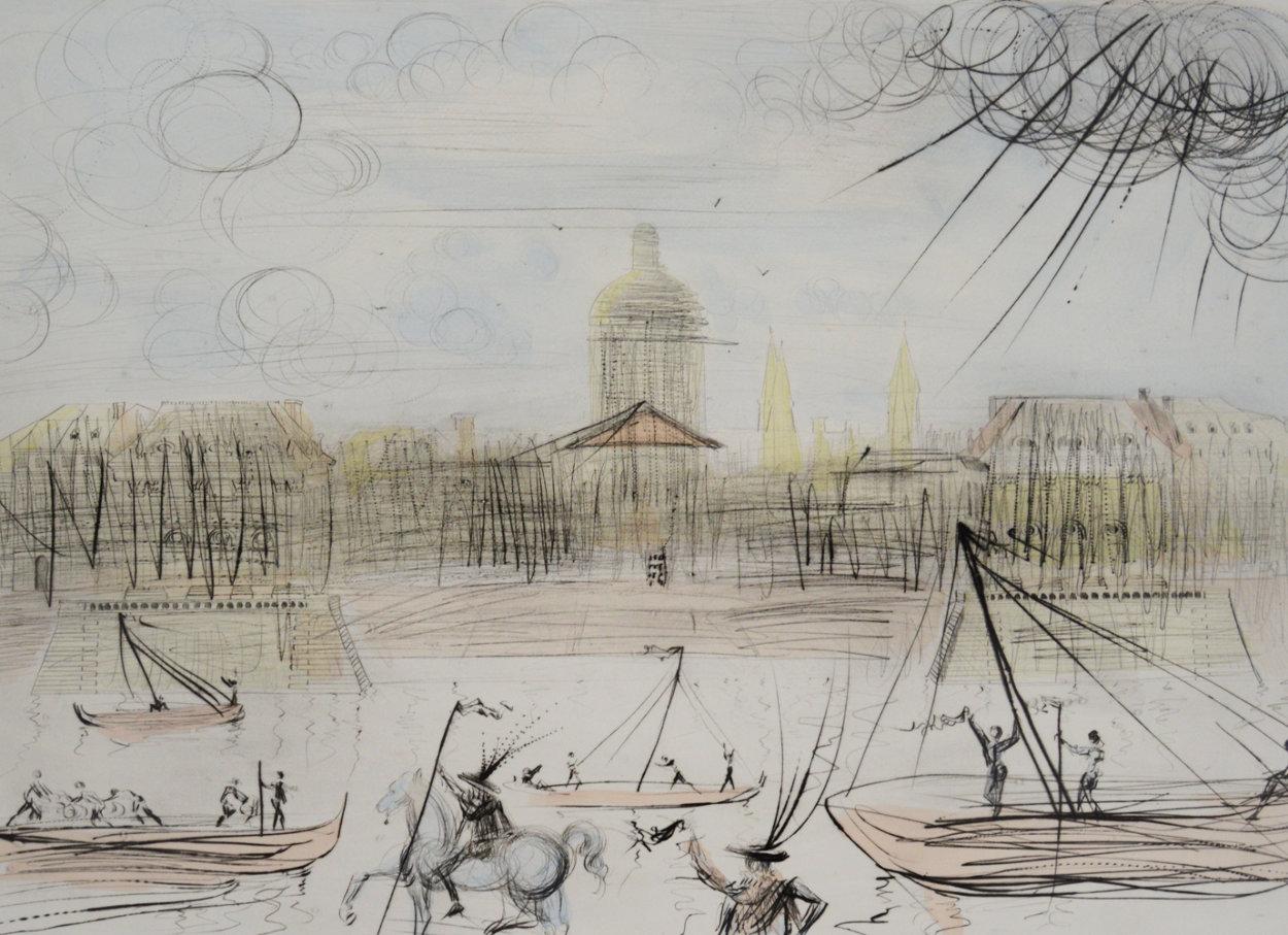Place de l' Academi / Academie Des Beaux Arts 1975 Limited Edition Print by Salvador Dali