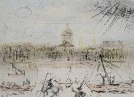 Place de l' Academi / Academie Des Beaux Arts 1975 Limited Edition Print by Salvador Dali - 0