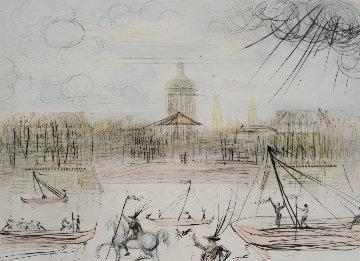 Place de l' Academi / Academie Des Beaux Arts 1975 Limited Edition Print - Salvador Dali