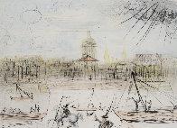 Place de l' Academi / Academie Des Beaux Arts 1975 Limited Edition Print by Salvador Dali - 1