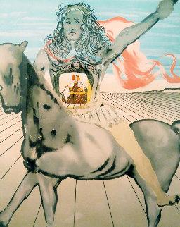 Chevalier Surrealiste - Goya - Jinete De Valazquez 1980 Limited Edition Print - Salvador Dali