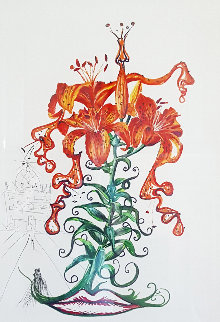 Tiger Lillies (Mustache) Musca Figueras 1972 Limited Edition Print by Salvador Dali