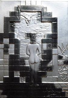 Lincoln in Dalivsion Platinum Sculpture 1979 28 in Sculpture by Salvador Dali