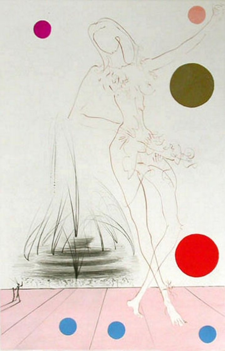 Visions of Chicago: Buckingham Fountain 1975 Limited Edition Print by Salvador Dali