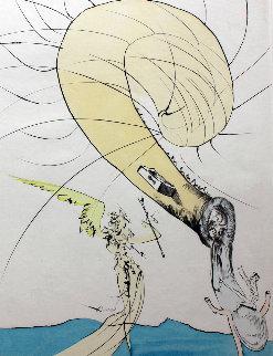 Freud a Tete D'escargot (Freud With Snail Head) 1974 Limited Edition Print by Salvador Dali