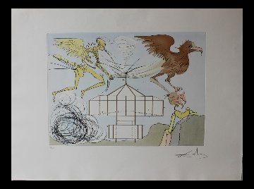 l'Aeroplane (Airplane) 1975 Limited Edition Print - Salvador Dali