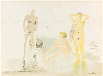 Three Graces of Cova D'Or 1975 Limited Edition Print by Salvador Dali