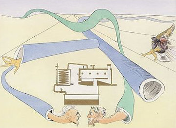 Le Cracking Du Petrole (The Catalytic Cracker) 1975 Limited Edition Print - Salvador Dali