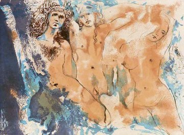 Three Hippies (Happy Days) 1970 Limited Edition Print by Salvador Dali