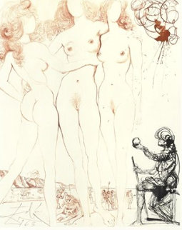 Judgement of Paris  Limited Edition Print - Salvador Dali