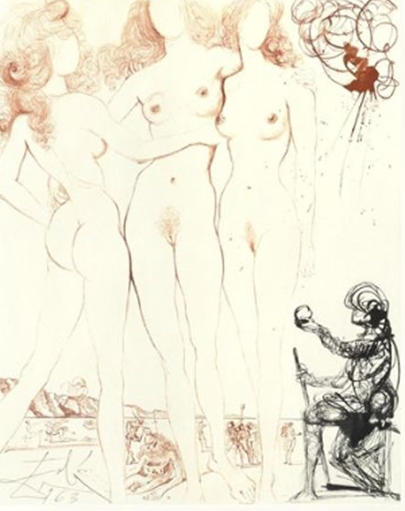 Three Graces 1966 (Early) Limited Edition Print by Salvador Dali