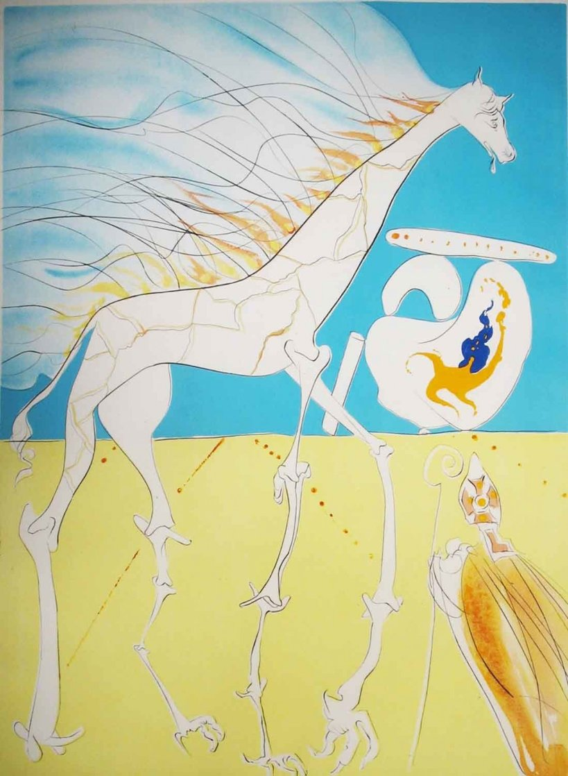 Saturnian Giraffe 1974 Limited Edition Print by Salvador Dali