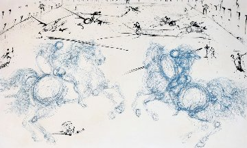Combat Cavaliers AP 1973 Limited Edition Print by Salvador Dali