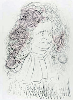 Le Portrait De La Fontaine 1974 Limited Edition Print by Salvador Dali