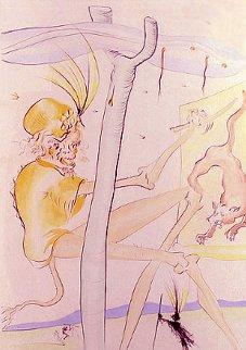 Le Singe Et Le Leopard 1974 Limited Edition Print - Salvador Dali