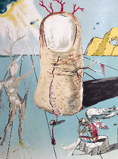 Vision of the Angel of Cap Creus For the Thumb 1980 Limited Edition Print - Salvador Dali