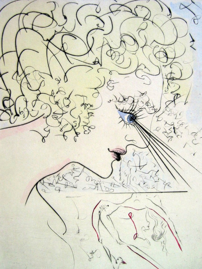 Head (Tete) of Venus 1969 (Early)  Limited Edition Print by Salvador Dali