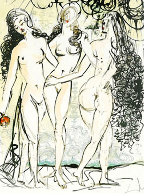 Three Graces 1966 Limited Edition Print by Salvador Dali - 0