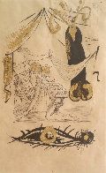A La Memoire De Zulma - From Les Amours Jaunes Suite 1974 Limited Edition Print by Salvador Dali - 3