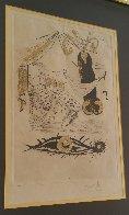 A La Memoire De Zulma - From Les Amours Jaunes Suite 1974 Limited Edition Print by Salvador Dali - 2