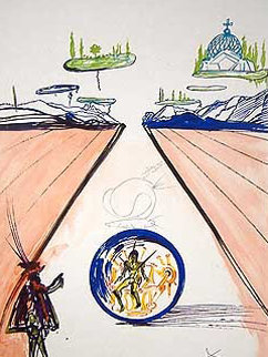 Imaginations And Objects of the Future Intra-uterine Paradesiac Locomotion  1975 Limited Edition Print by Salvador Dali