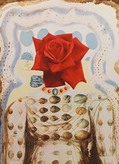 Memories of Surrealism Surrealist Flower Girl 1971 Limited Edition Print - Salvador Dali