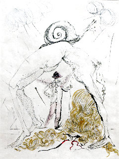 Poems Secrets Nude With Snail 1967 (Early) Limited Edition Print by Salvador Dali