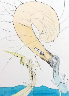 After 50 Years of Surrealism Freud With Snail Head 1974 Limited Edition Print by Salvador Dali