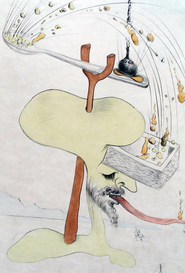 Hommage a Quevedo 1975 Limited Edition Print by Salvador Dali