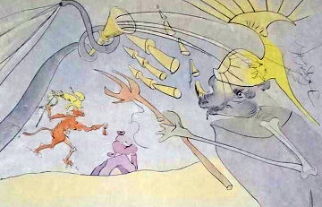 La Fontaine's Bestiary Dalinized 1974 Limited Edition Print by Salvador Dali