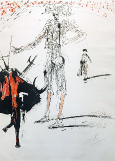 Tauromachie De Dali (Bullfight #4) (Early) 1966 Limited Edition Print - Salvador Dali