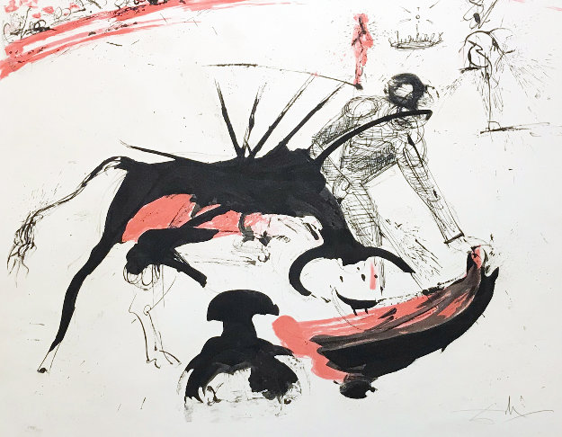 Tauromachie De Dali (Bullfight #3) (Early) 1966 Limited Edition Print by Salvador Dali