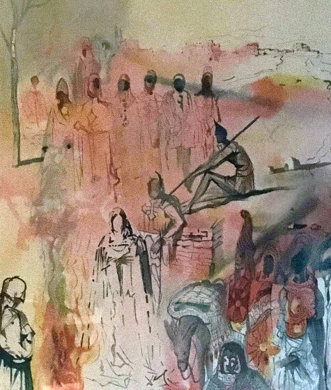 Tancred's Oath  1969 Limited Edition Print by Salvador Dali