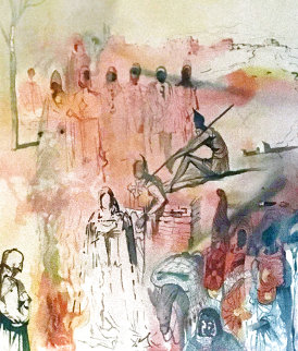 Marquis de Sade: Tancreads Oath  1969 (Early) Limited Edition Print by Salvador Dali
