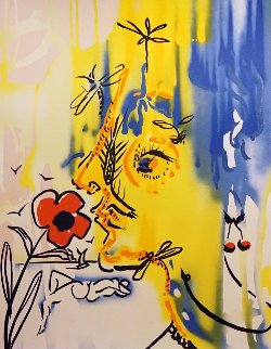 Fleurs Surrealistes of Gala And the Vanishing Face, Suite of 2 1980 Limited Edition Print - Salvador Dali