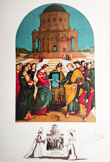 Raphael Le Marriage  La De Vierge  1974 Limited Edition Print by Salvador Dali