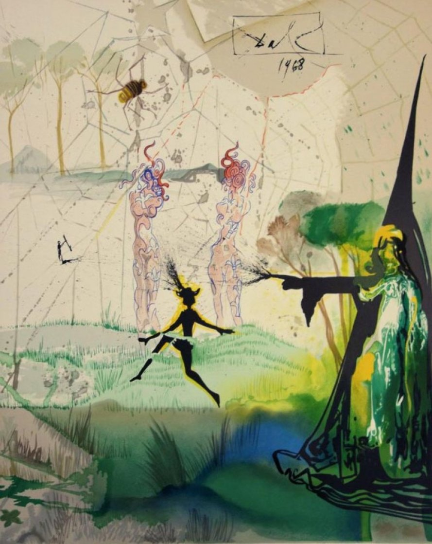 Marquis de Sade: Damis's Dilemma AP 1968 (Early) Limited Edition Print by Salvador Dali