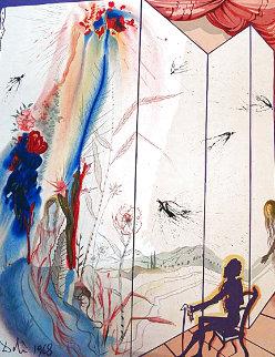 Marquis de Sade: Twins Outwit Damis AP 1969 Limited Edition Print - Salvador Dali