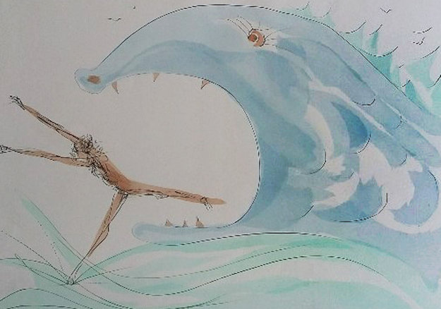 Jonah And the Whale, From Our Historical Heritage Suite 1975 Limited Edition Print by Salvador Dali