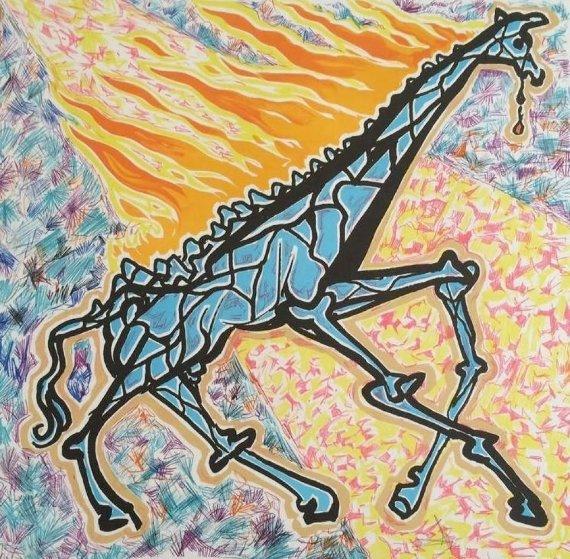 Le Giraffe En Feu (The Burning Giraffe) 1976 Limited Edition Print by Salvador Dali