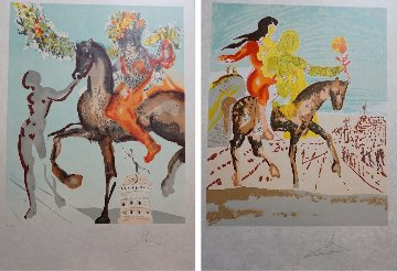 New Jerusalem Complete 2 Piece Suite 1980 Limited Edition Print - Salvador Dali