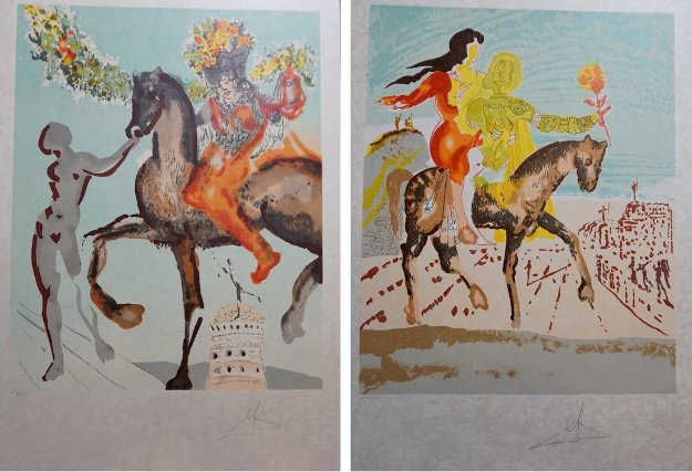 New Jerusalem Complete 2 Piece Suite 1980 Limited Edition Print by Salvador Dali