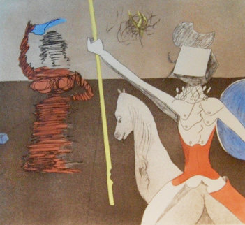 Off to Battle 1980 Limited Edition Print by Salvador Dali