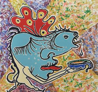 Le Jungle Humaine Suite: Le Poisson   AP 1976 Limited Edition Print by Salvador Dali